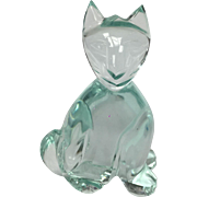 Small Glass Baccarat Style Cat Figure