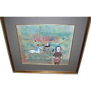 Rare Painting by Polia Pillin