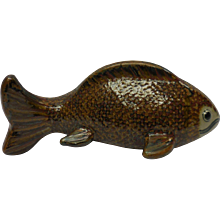 1970 Mexican Catfish Decorative Art Pottery