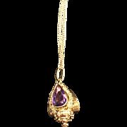 Gorgeous Amethyst 18k Gold Pendant