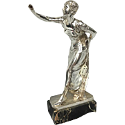 Silvered Bronze Woman Garnier Sculpture
