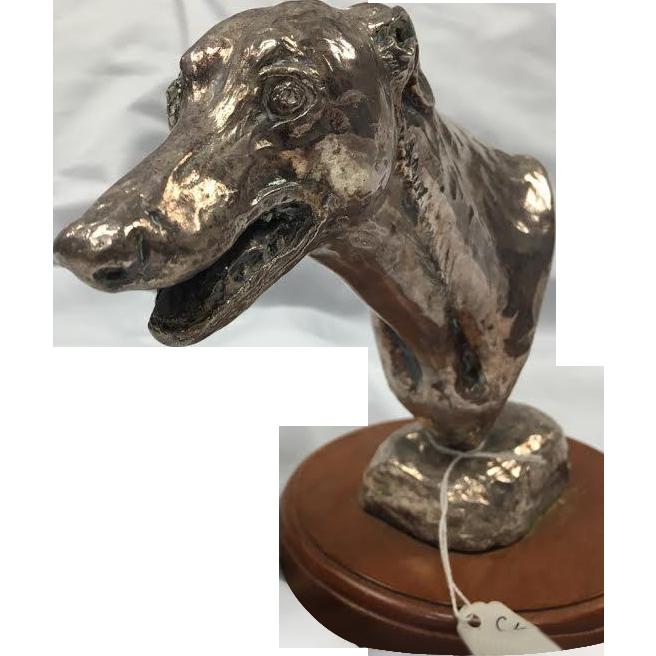 Silvered Bronze M Beattle Scott 1993 Dog Sculpture