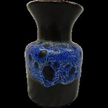 Blue West German Vase Jasba
