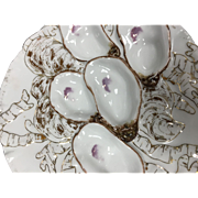Pink and Gold Oyster Plates