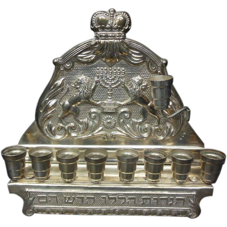 Eastern European Sterling Silver Menorah The Antique