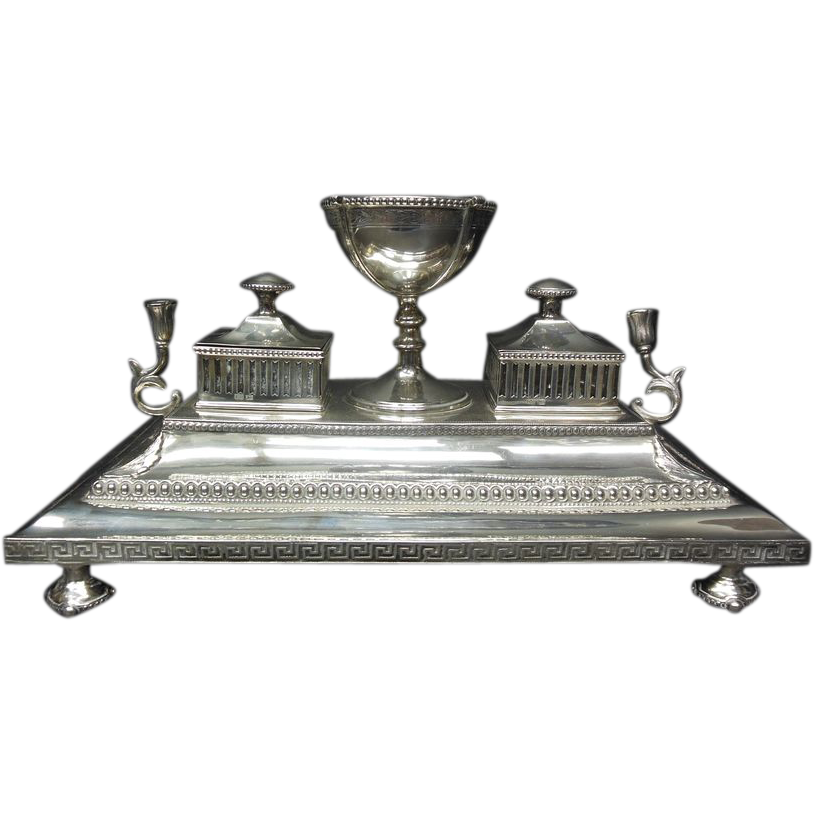 Fine Victorian Silver Desk Stand