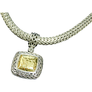 John Hardy Sterling Silver and 22K Gold Necklace and Pendant