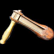 "Victorian Wooden ""Watchmen's Rattle"" Fire Alarm"