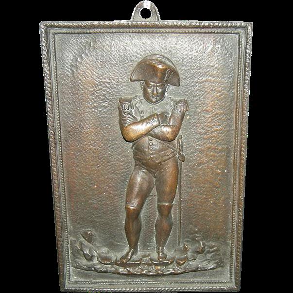 Bronze Plaque of Napoleon
