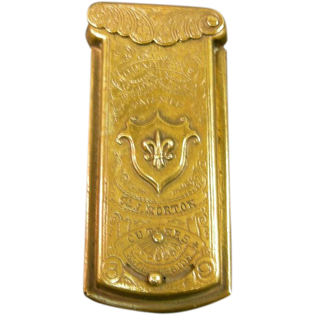 Brass Sewing Needle Case 19th Century From Antiquegal On
