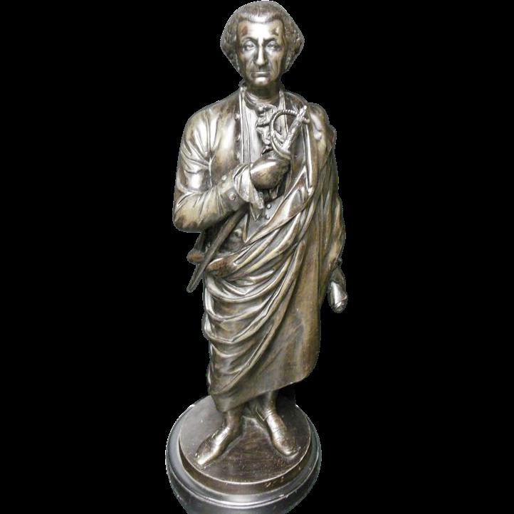 George Washington Sculpture on Rotating Pedestal