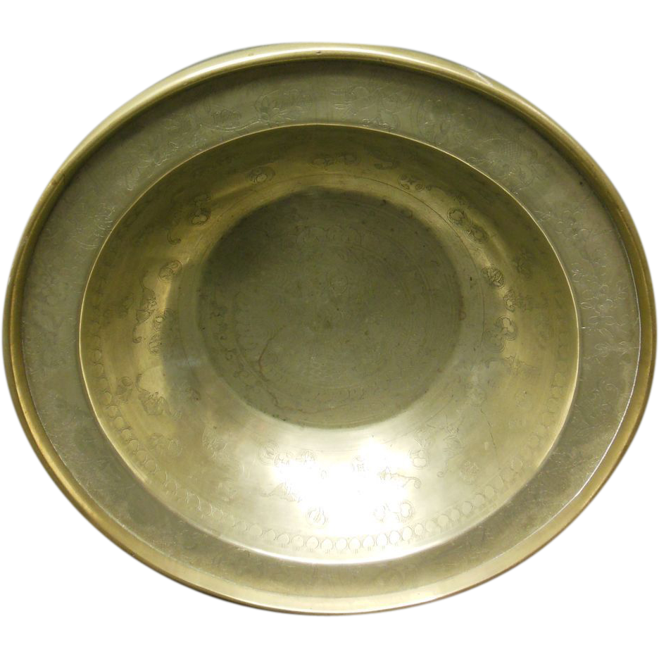 18th Century Brass Chinese Bowl