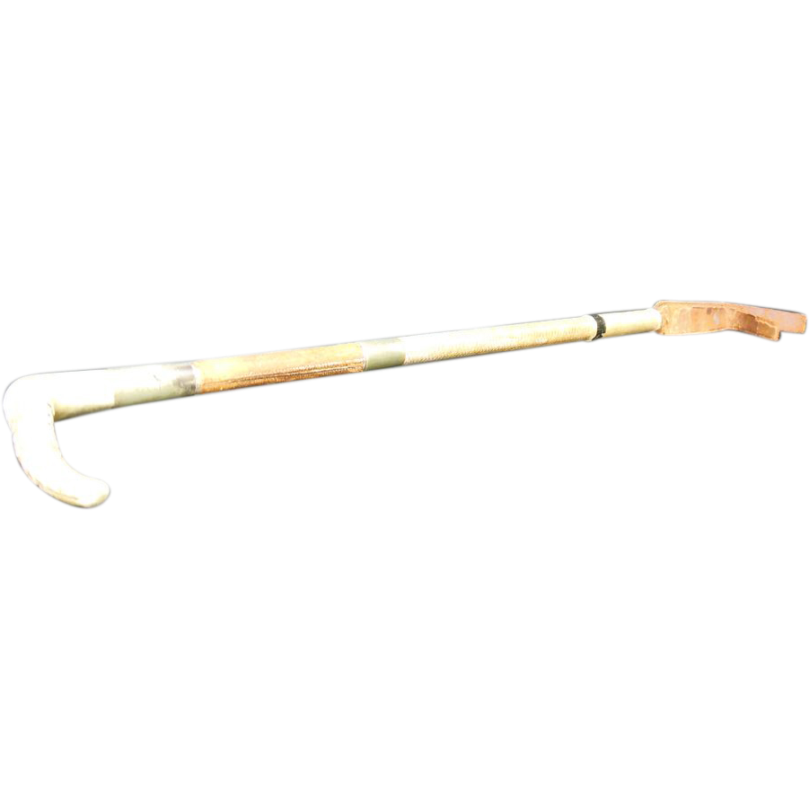 Horn, Leather, & Woven Riding Crop