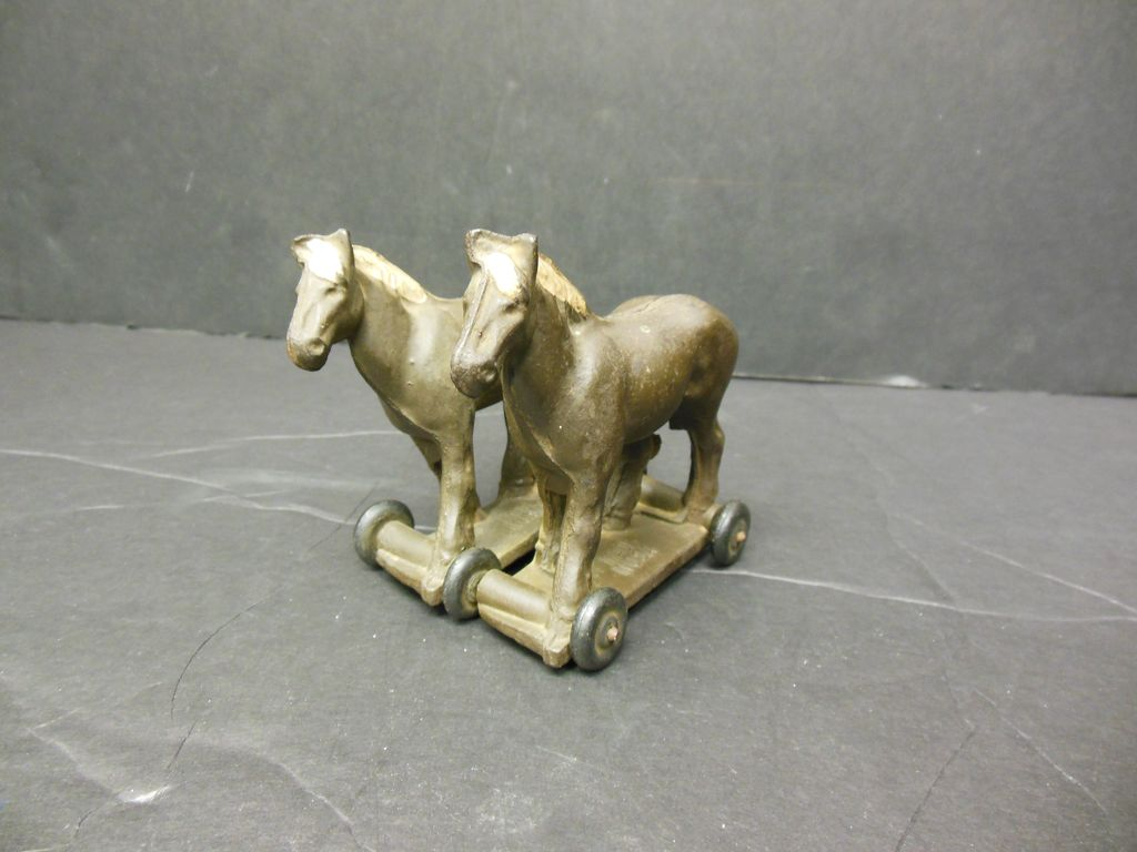 Pair of Horses on Wheeled Platform