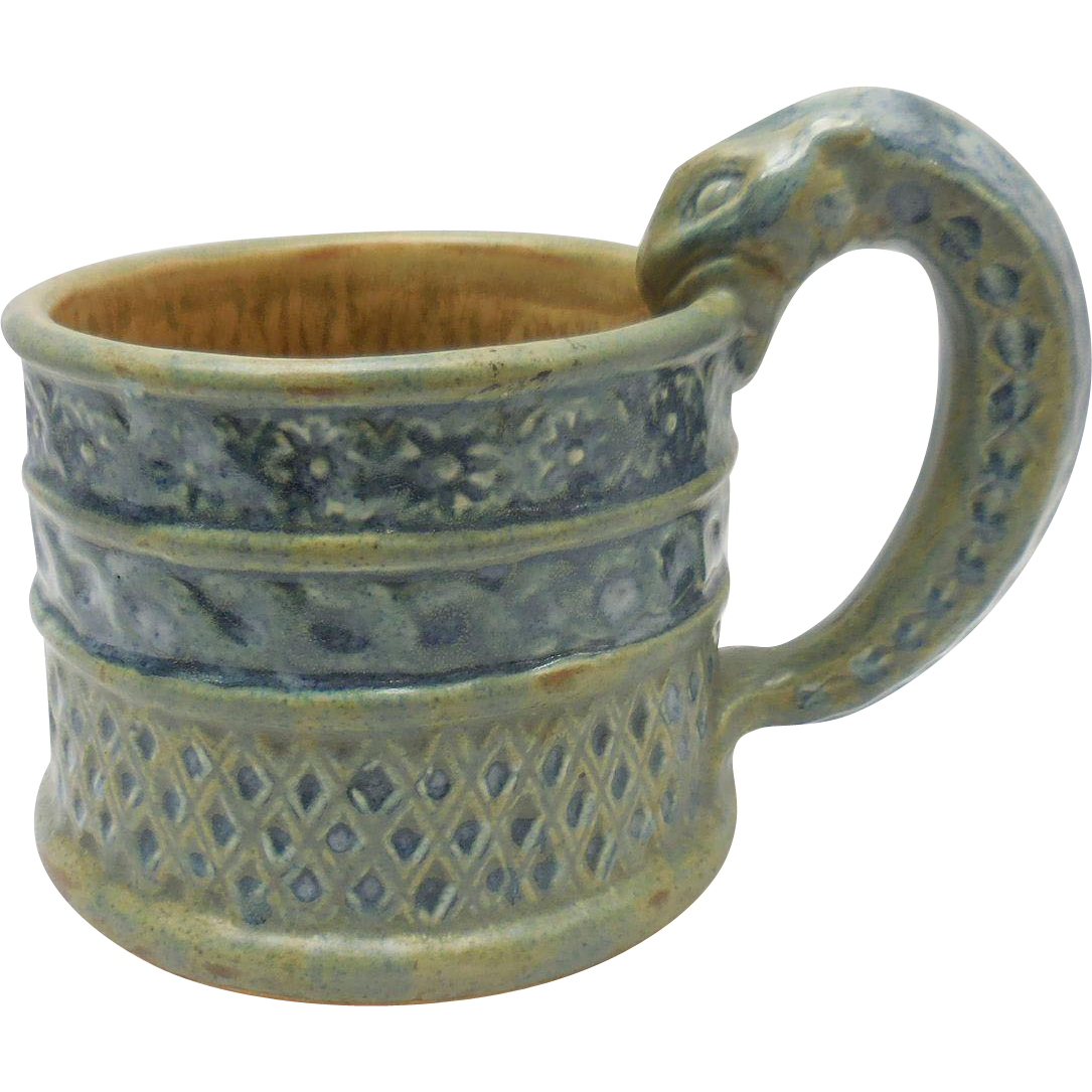 Quimper Pitcher of King Gradlon with Serpent Handle by Quillivic