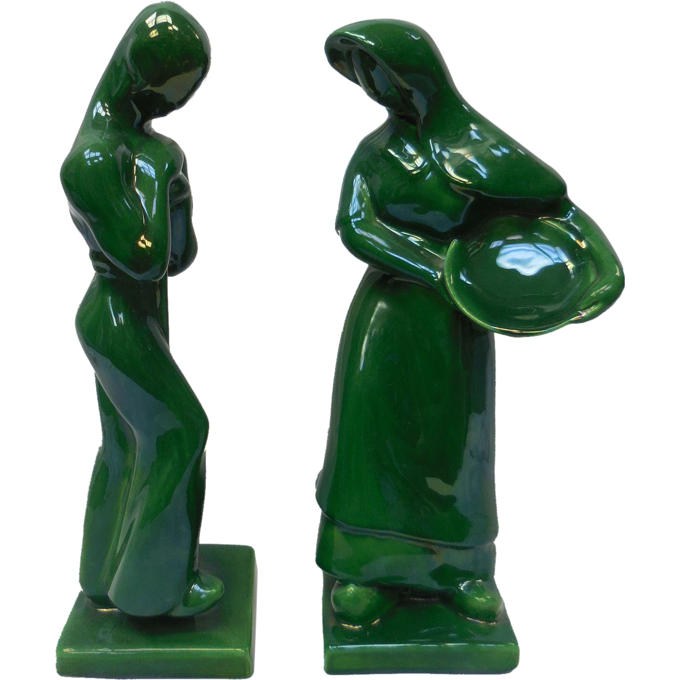 "Pair of ""Harvest"" Royal Haeger Ceramic Sculptures by Hickman"
