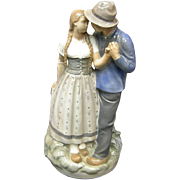 Royal Copenhagen Statue of Young couple