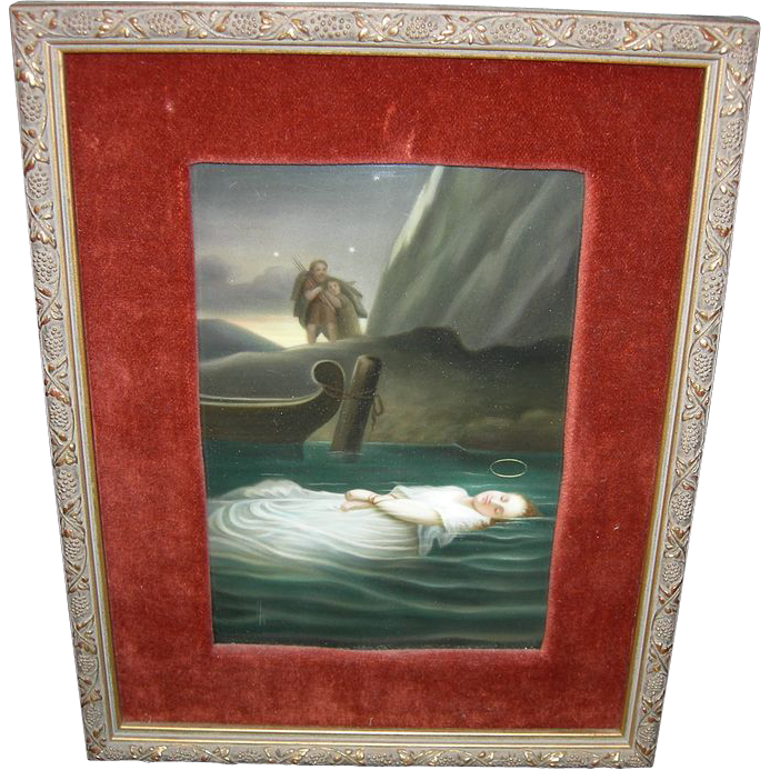 German K P M Porcelain Plaque