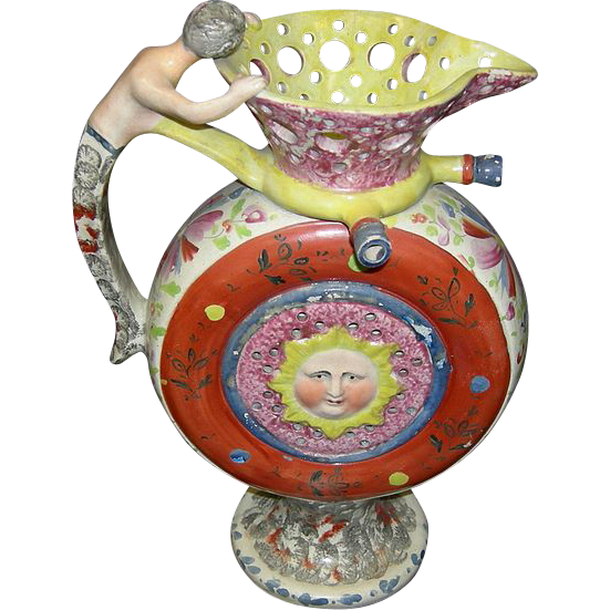 Pearlware Puzzle Jug