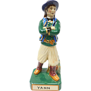 French Faience Quimper Pottery Young Breton Lad Figure