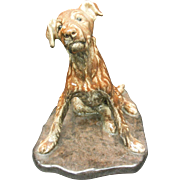 French Ceramic Dog signed by Van. Rozen