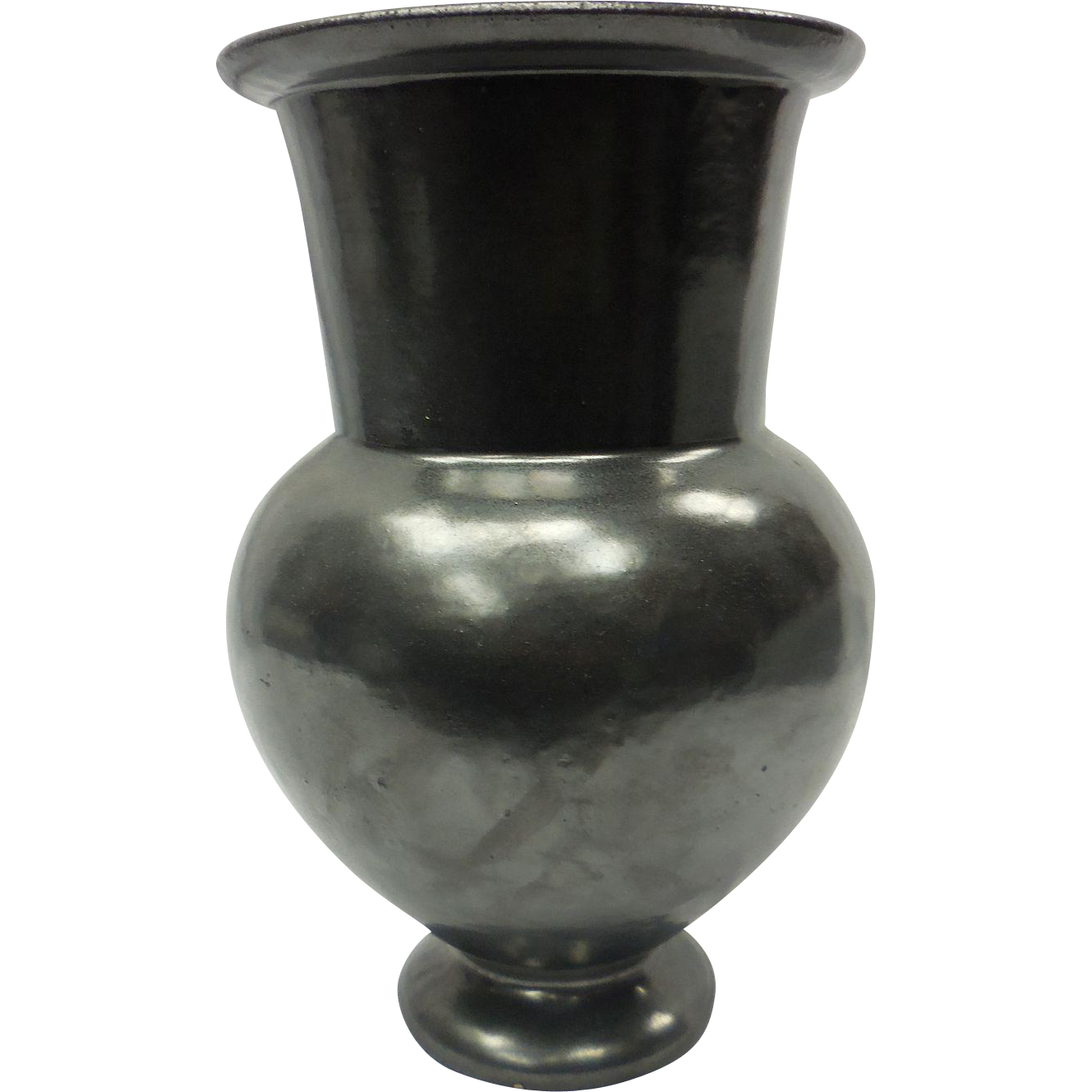 c. 1920 Rare Black Neoclassical Garden Terra Cotta Galloway Pottery Vase