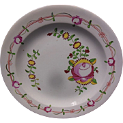 English King's Rose Creamware Dish