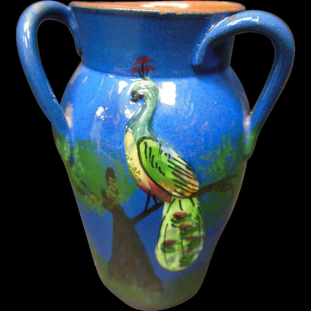 Torquay Peacock Vase