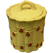 Wedgwood Primrose Jasper Bamboo Covered Sugar