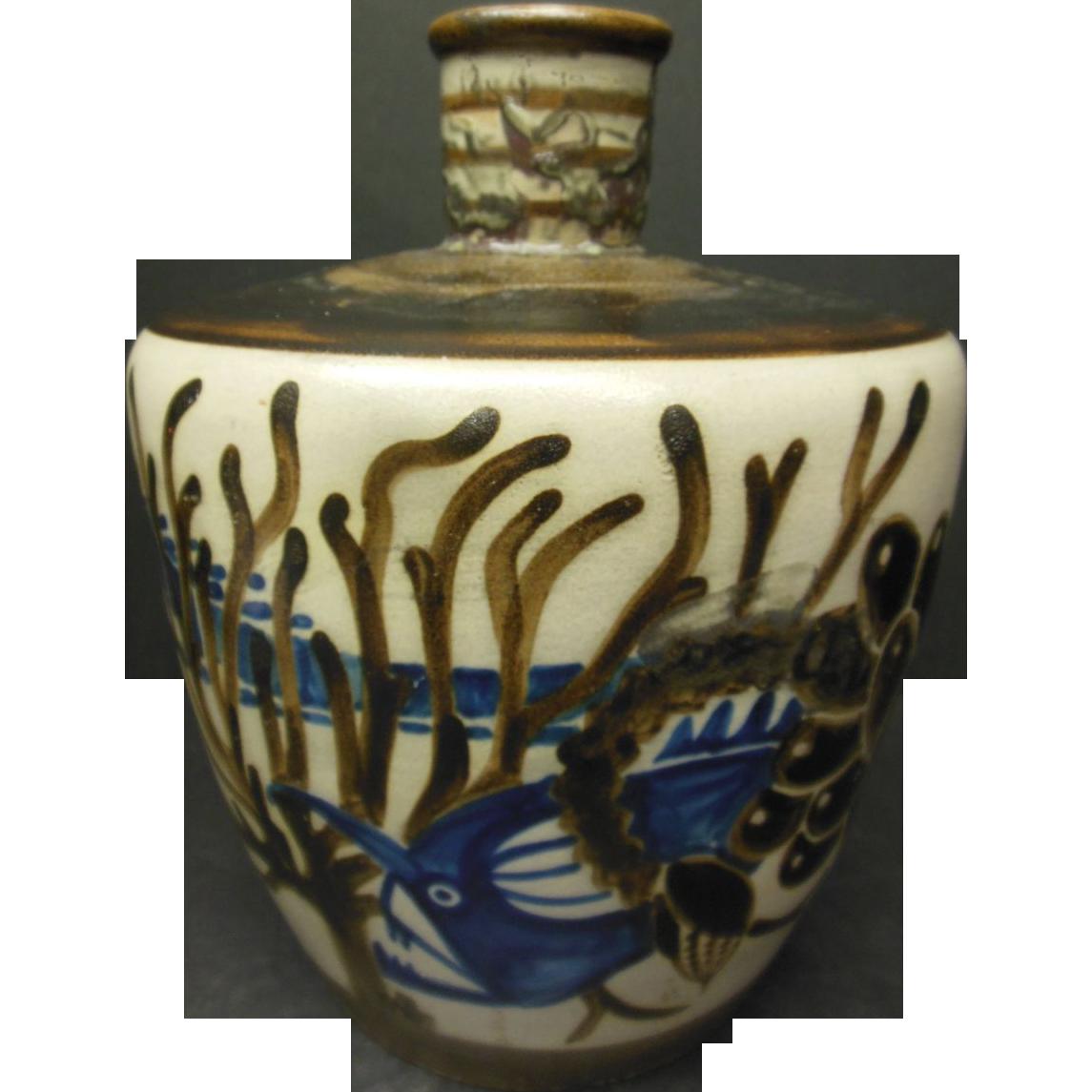 "French ""Primavera"" Art Deco Vase"