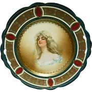 Austrian Hand-painted Blonde in Cartouche