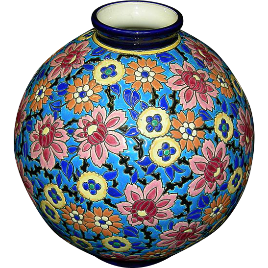 French Longwy Vase