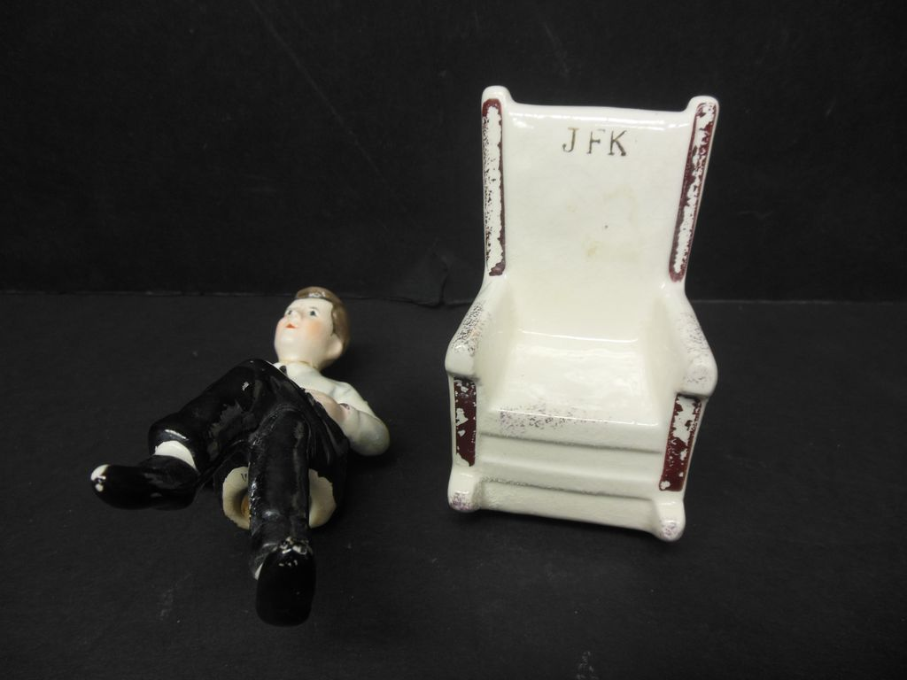 John F. Kennedy Rocking Chair Salt & Pepper Shaker From Antiquegal On . Full resolution  portraiture, nominally Width 1024 Height 768 pixels, portraiture with #5E4A41.