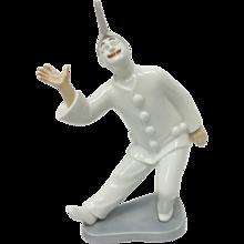 Retired Bing & Grondahl Porcelain Clown Pierrot Figurine #2353