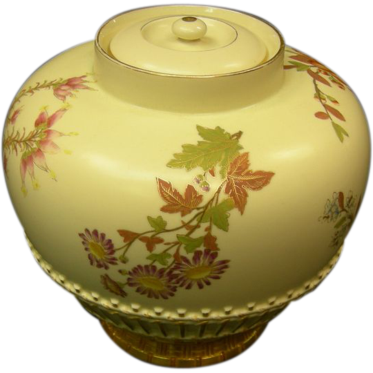 Royal Worcester Covered Vase
