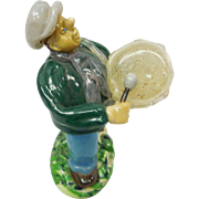 Mid-Century Czech Short & Stout Glass Drummer Figure