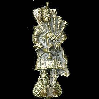 Brass Scottish Bagpiper Door Knocker