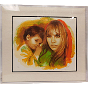"Sandu Liberman Lithograph: ""Young Mother and Child"""