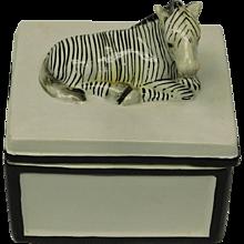 Vintage Zebra Box by Mottahedeh