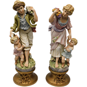 European Bisque Statues