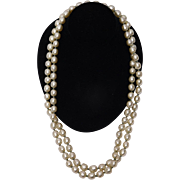Miriam Haskell Designer Faux Pearl Necklace