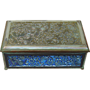 Tiffany Furnaces Bronze Frame Glass Box