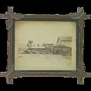 """Original Portland & Ogdensburg Railroad  Locomotive named """"Resolution"""" Photo Taken between 1881 & 1888 !"""