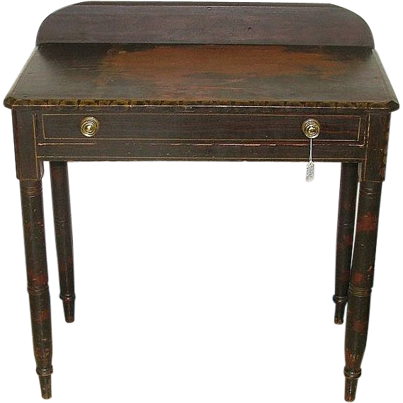 Ohio Valley Original Painted Sheraton Side Table with Single drawer !