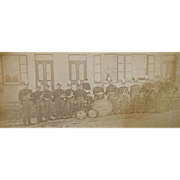 Civil War Period, Unknown Coronet Band, Sidewalk Group Photo .