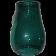 "Original marked ""Dietz Fitzall * NY.""   Teal Green Glass Lantern Globe with ""Loc-Nob * Reg'd in U.S.A."""