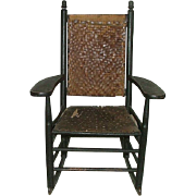 "Child's Rocker ""Manufactured by L. J. Colony Keene,NH."" Stamped on Armrest Circa 1880 to 1920. Make $50.00 Offer !!!"