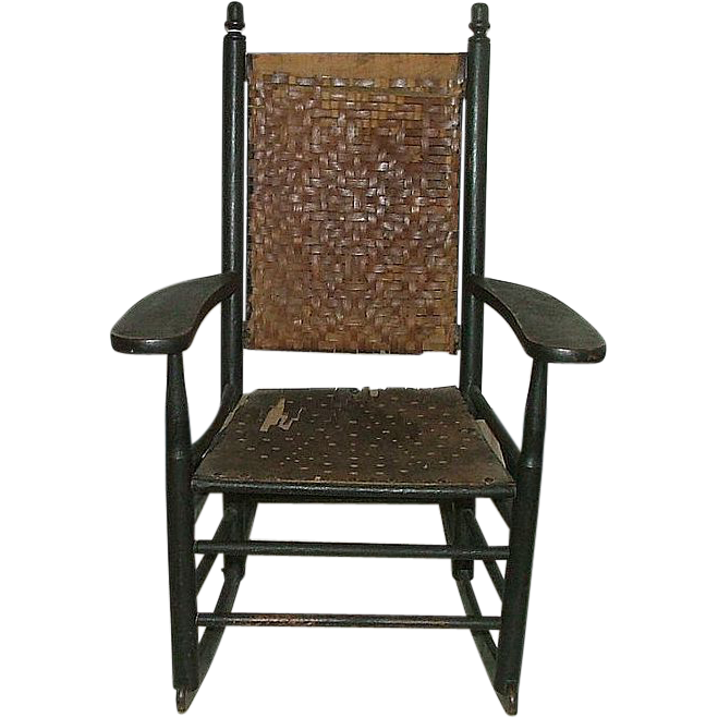 "Child's Rocker ""Manufactured by L. J. Colony Keene,NH."" Stamped on Armrest Circa 1880 to 1920."