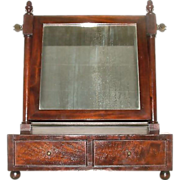 Mint American Made Mahogany Veneered & Dovetail Shaving Mirror !