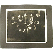 """Rare Identified """"Signal Corp."""" Photo Group of the 4th Volunteer Battalion Manchester Regiment  Backmarked 1889 !"""